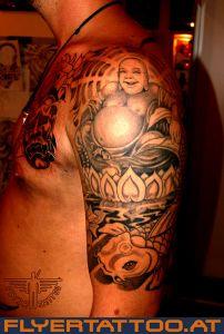 Buddha Koi-tattoo