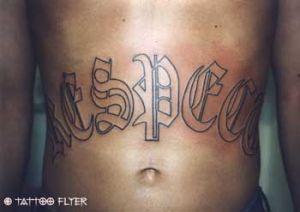 Respekt Alt Deutsch Tattoo