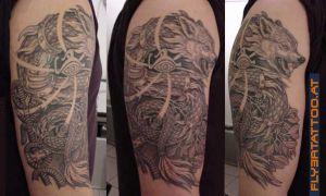 Tattoo Dac, Dacian Draco Sarpele cu cap de lup