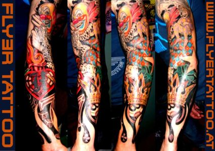 Newschool-tattoo-Clown