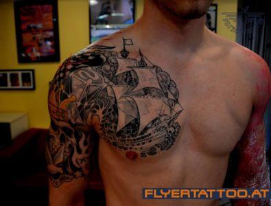 Newschool Tattoo Schiff