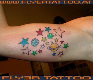 Tattoo Sternen Universum
