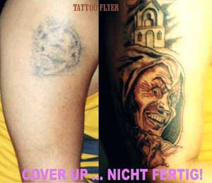 Tattoo-coverup-schedel-clown
